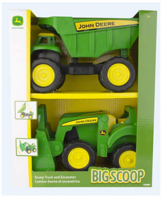 "John Deere Optimum Fulfillment Tomy 15"" Big Scoop Dump Truck And Tractor Loader, 2 Pack"