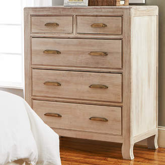 Bungalow Rose Tampa 5 Drawer Solid Wood Chest