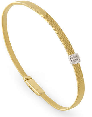 Marco Bicego Masai 18K Yellow Gold Coil Bracelet with Diamond Station