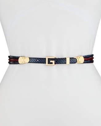 Gucci Snakeskin Square G Belt
