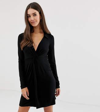 597fb9b9df4d Asos Tall DESIGN Tall twist front shirt dress