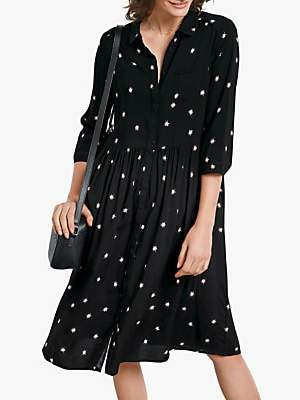 Hush Farah Star Midi Dress, Firework Star Black