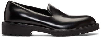 Dries Van Noten Black Leather Loafers