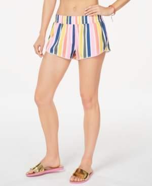 California Waves Juniors' Baja Stripe Printed Swim Shorts, Created for Macy's Women's Swimsuit