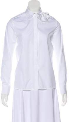 Victoria Beckham Victoria Bow-Accented Button-Up Top