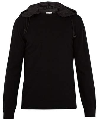 Valentino Detachable Hood Wool Sweater - Mens - Black