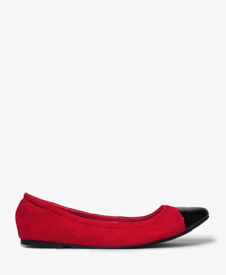Forever 21 Patent Toe Ballet Flats