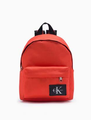 Calvin Klein monogram logo campus backpack
