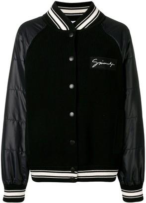 Givenchy ribbed panel bomber jacket