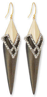 Alexis Bittar Crystal-Encrusted Lattice Lace Wire Earrings