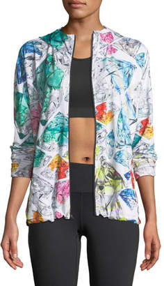 Nike Mosaic-Print Zip-Front Hooded Performance Jacket