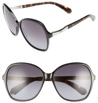 Women's Kate Spade New York Jolyn 58Mm Gradient-Lens Sunglasses - Black $180 thestylecure.com