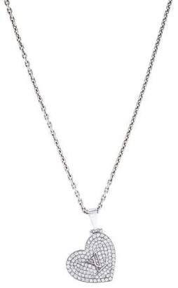 Louis Vuitton 18K Diamond Locket Pendant Necklace