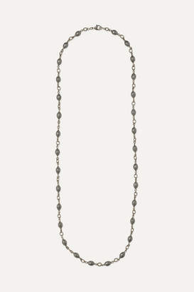 Sylva & Cie 18-karat White Gold, Sterling Silver And Diamond Necklace - one size