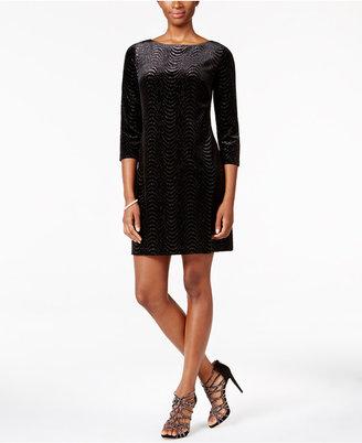 Jessica Howard Velvet Glitter Shift Dress $99 thestylecure.com