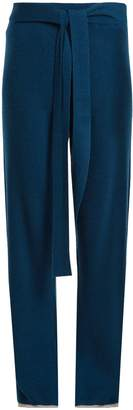 PEPPER & MAYNE Tie-waist cashmere palazzo trousers