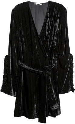 H&M Crushed-velvet Cardigan - Black