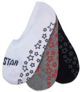 6d1afe107149 Converse Kid s 3-Pack No Show Basic Star Gripper Sock Set