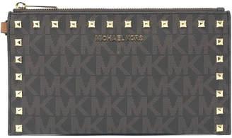 MICHAEL Michael Kors Bedford Signature Studded Large Zip Clutch