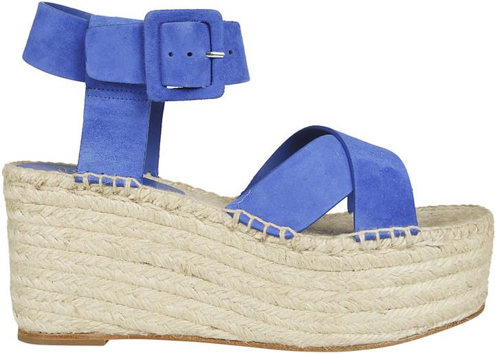 CelineCeline Cross Strap Wedge Sandals