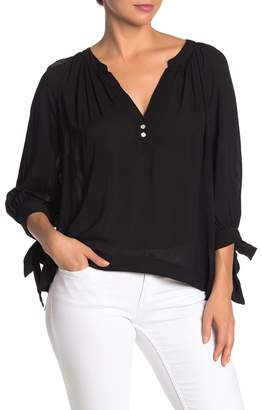 On The Road Cannes Tie Sleeve Blouse