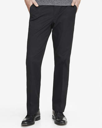 Express Relaxed Stretch Cotton Black Dress Pant