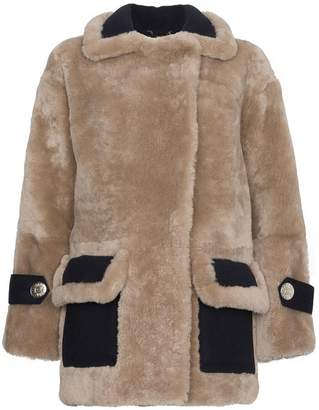 Navro Shearling coat with large lapels