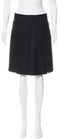 Armani Collezioni Wool & Anglora-Blend Skirt