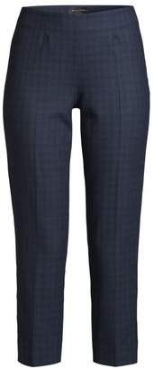 Piazza Sempione Audrey Checked Cropped Pants
