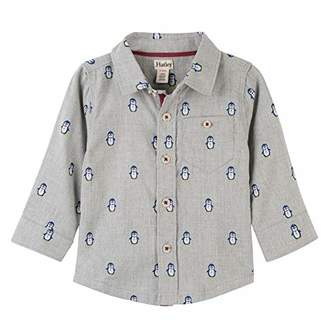 Hatley ハットレイ ペンギンちゃん ベビー シャツ 85~90cm、18M-24M(84-89cm) グレー 綿100% F18PPI1345