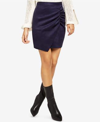 BCBGeneration Ruched Envelope-Hem Mini Skirt