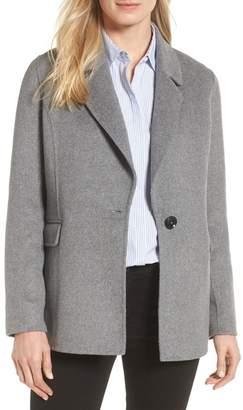 Badgley Mischka Double Face Wool Blend Blazer (Regular & Petite)