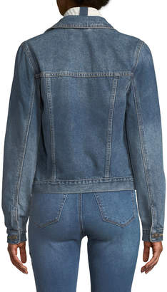 Dex Denim Jacket w/ Ribbed Sweater Collar