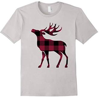 Plaid deer Christmas T-shirt