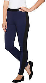 Nobrand NO BRAND Lisa Rinna Collection Petite Leggings withRibbed Panel
