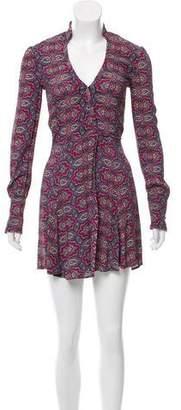 Reformation Long Sleeve Printed Wrap Dress