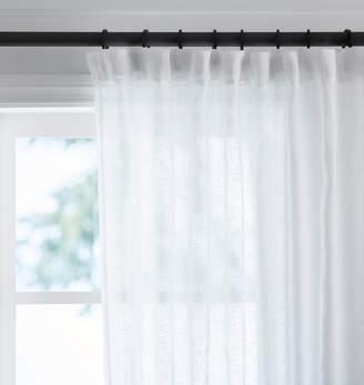 Rejuvenation White Sheer Linen Curtain Panel