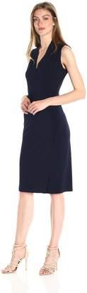 Norma Kamali Women's Sleeveless Side Drape Dress, S