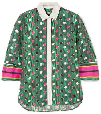Mary Katrantzou Rita Printed Silk-twill Shirt - Green