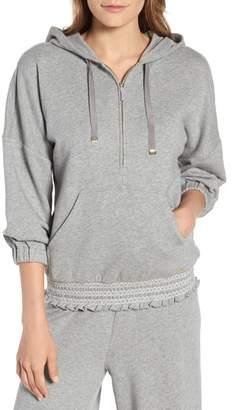 Kate Spade Smocked Hoodie Sweatshirt