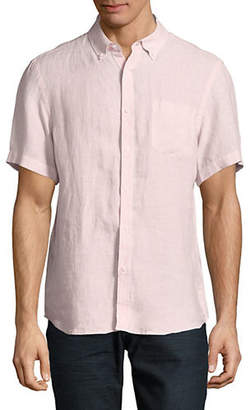 Black Brown 1826 Short Sleeve Linen Shirt