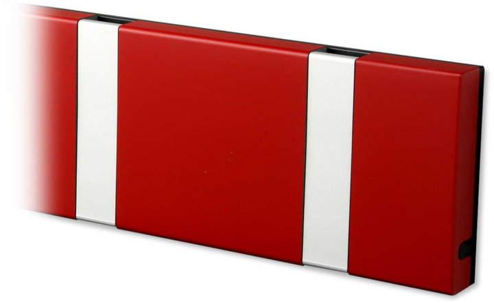 LoCa - Knax 6 Garderobenleiste, imperial Rot / grau