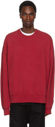 Juun.J Red Panelled Oversized Sweatshirt