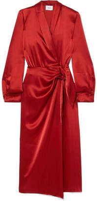 Nanushka - Ezra Satin Wrap Dress - Red