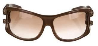 Jimmy Choo Snake Embellished Gradient Sunglasses