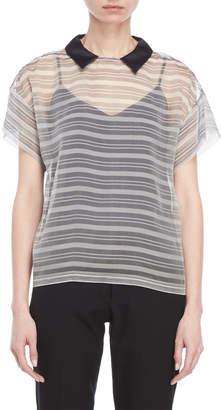 Peserico Two-Piece Striped Shirt & Cami Set