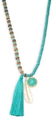 Design Lab Long Beaded Tassel Necklace