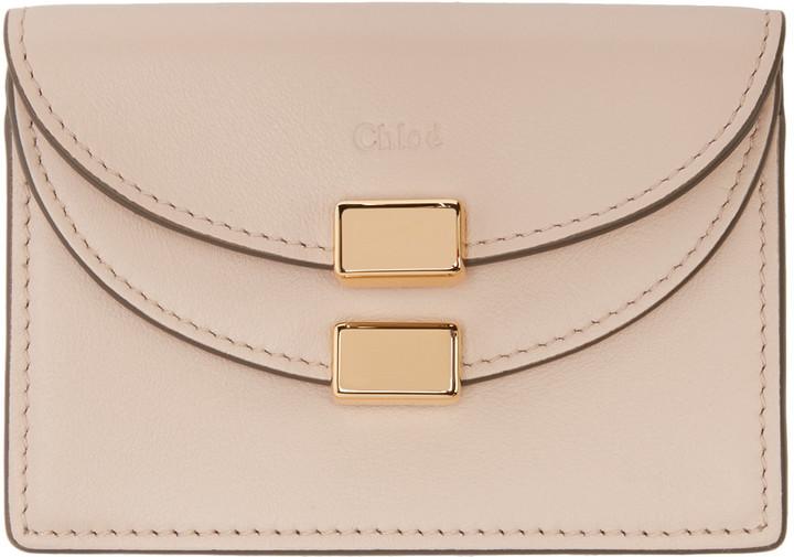 Chloé Chloé Pink Leather Card Holder