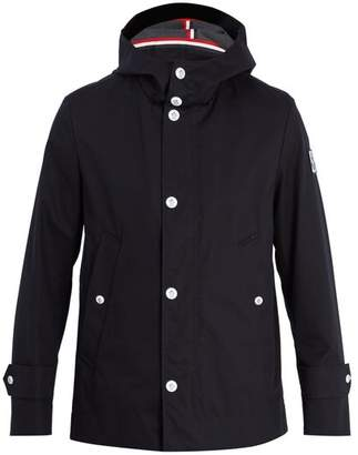 Moncler Hooded Cotton Raincoat - Mens - Black