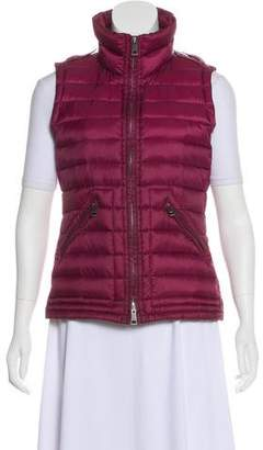 Burberry Puffer Zip-Up Vest